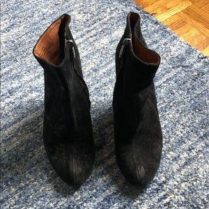 Sam Edelman black suede wedge booties, 7.5